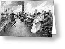 Lake Constance Steamer Passengers, 1890s Greeting Card