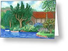 Lake Cottage Greeting Card