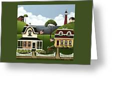 Lake Cottages Greeting Card
