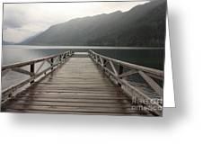 Lake Crescent Dock Greeting Card