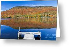 Lake Elmore Autumn Greeting Card