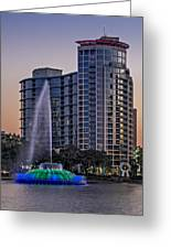 Lake Eola Water Fountain  Greeting Card