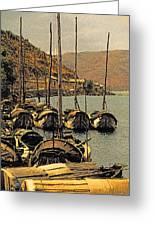 Lake Er Hai Boats Greeting Card