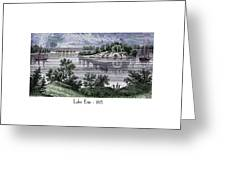 Lake Erie - 1815 Greeting Card