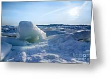 Lake Erie Ice Sunrise Greeting Card