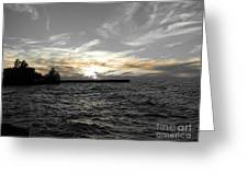 Lake Erie Lights Greeting Card