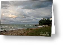 Lake Erie Shore Line II Greeting Card