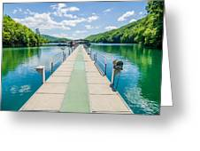 Lake Fontana Boats And Ramp In Great Smoky Mountains Nc Greeting Card