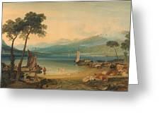 Lake Geneva And Mount Blanc Greeting Card