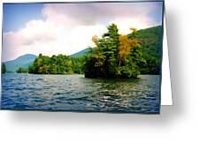 Lake George Islands In Summer Greeting Card