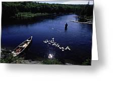 Lake Guiding Sports Fishing Greeting Card