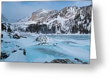 Lake Haiyaha Winter Greeting Card