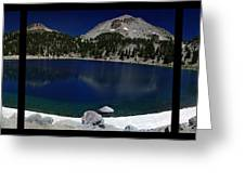 Lake Helen At Mt Lassen Triptych Greeting Card by Peter Piatt
