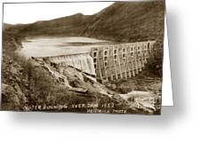 Lake Hodges And Dam San Diego County California  1952 Greeting Card