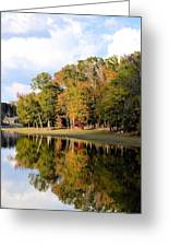 Lake House In Autumn Greeting Card