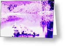 Lake And Ice Greeting Card