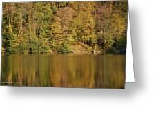Lake In Autumn Greeting Card