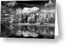 Lake In Black And White One Greeting Card