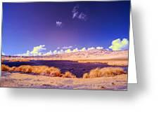 Lake In Rano Raraku Crater Greeting Card