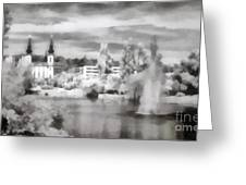 Lake In The Budapest City Greeting Card