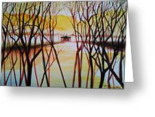Lake In The Morning Greeting Card
