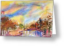Lake In The Woods Greeting Card