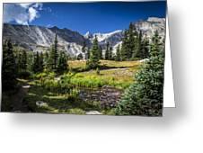 Lake Isbelle Mountains Greeting Card