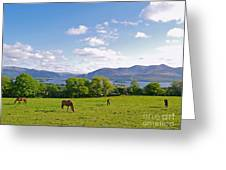 Lake Killarney From Aghadoe Hill County Kerry Greeting Card