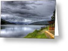 Lake Koocanusa At Libby Dam Greeting Card