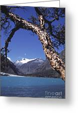 Lake Llanganuco Peru Greeting Card