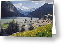 1m3520-h-lake Louise Chateau Greeting Card