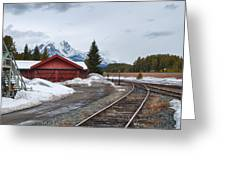 Lake Louise Depot Greeting Card