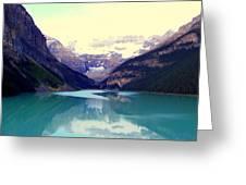 Lake Louise Stillness Greeting Card by Karen Wiles