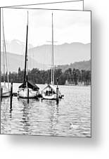 Lake Lucerne Switzerland  Greeting Card by Nian Chen