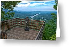 Lake Lure Overlook Greeting Card