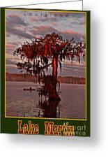 Lake Martin Louisiana Greeting Card
