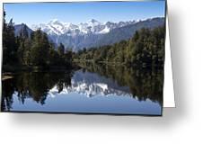Lake Matheson New Zealand Greeting Card