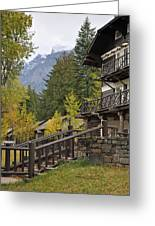 Lake Mcdonald Lodge In Glacier National Park Greeting Card