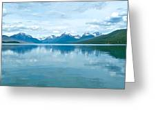 Lake Mcdonald Reflection In Glacier  National Park-montana Greeting Card