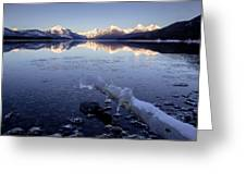 Lake Mcdonald Winter Greeting Card