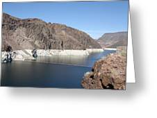 Lake Mead At Hoover Dam 2 Greeting Card