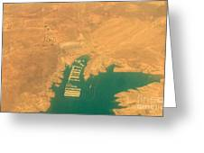 Lake Mead From The Air Greeting Card