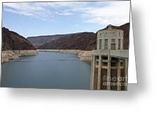 Lake Mead Seen From The Hoover Dam Greeting Card