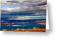 Lake Mead Thunderstorm Greeting Card