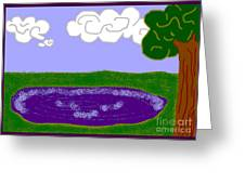 Lake Greeting Card by Meenal C