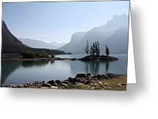 Lake Mennewanka Greeting Card by Carolyn Ardolino