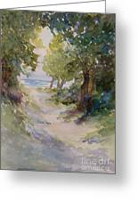 Lake Michigan Beach Path Greeting Card