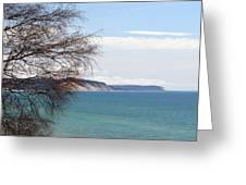 Lake Michigan Bluffs Greeting Card