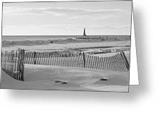 Lake Michigan Don't Fence Me In Greeting Card by Rosemarie E Seppala