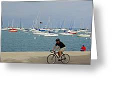 Lake Michigan - Downtown Chicago Greeting Card